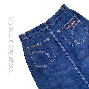 VINTAGE Rebel Jeans Denim Skirt